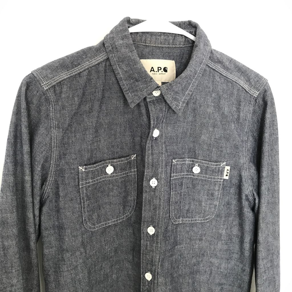 A.P.C. x Carhartt Denim Button Up Shirt curated by Matthew Hwang
