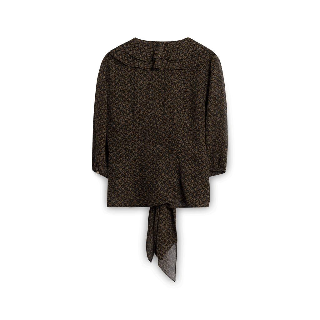 Lauren by Ralph Lauren Tie Top - Black