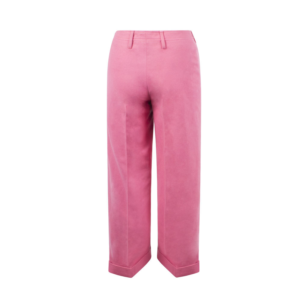 Cacharel Pink Wool Trousers XXS