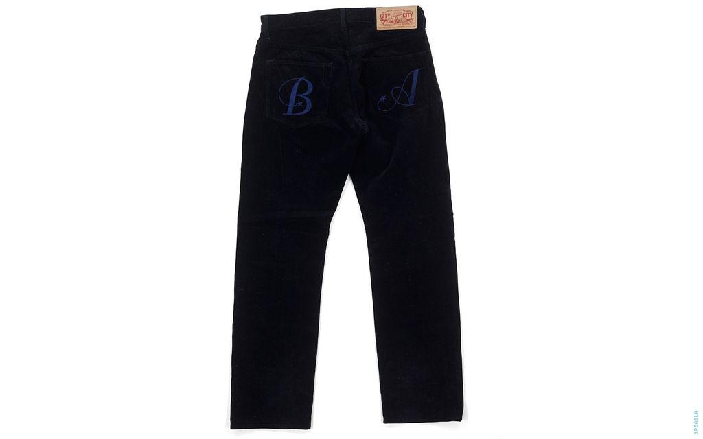 BA Embroidery Corduroy Pants black