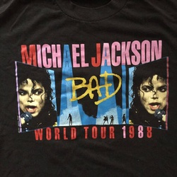 """Vintage 1988 Michael Jackson """"Bad"""" Tour Tee Shirt  curated by Scott Hopkins"""