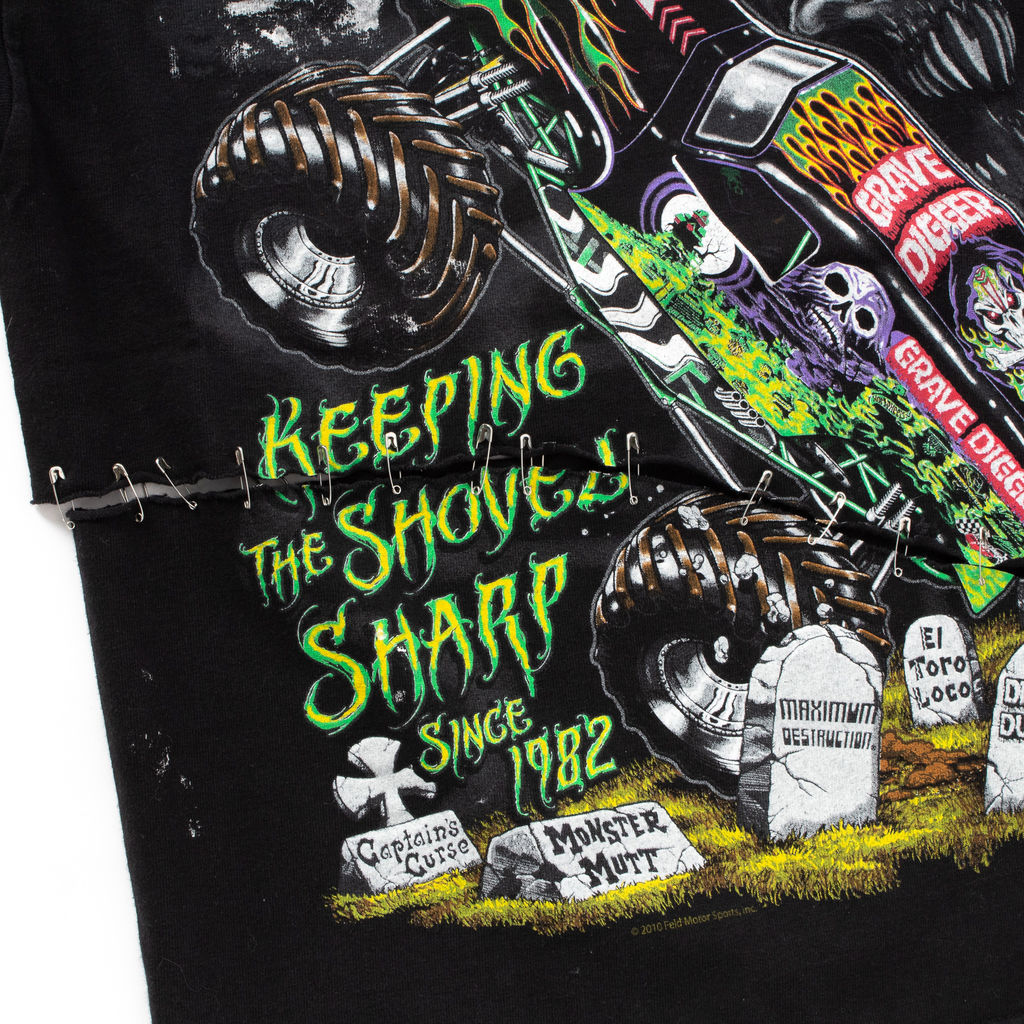 Grave Digger Reconstructed T Shirt