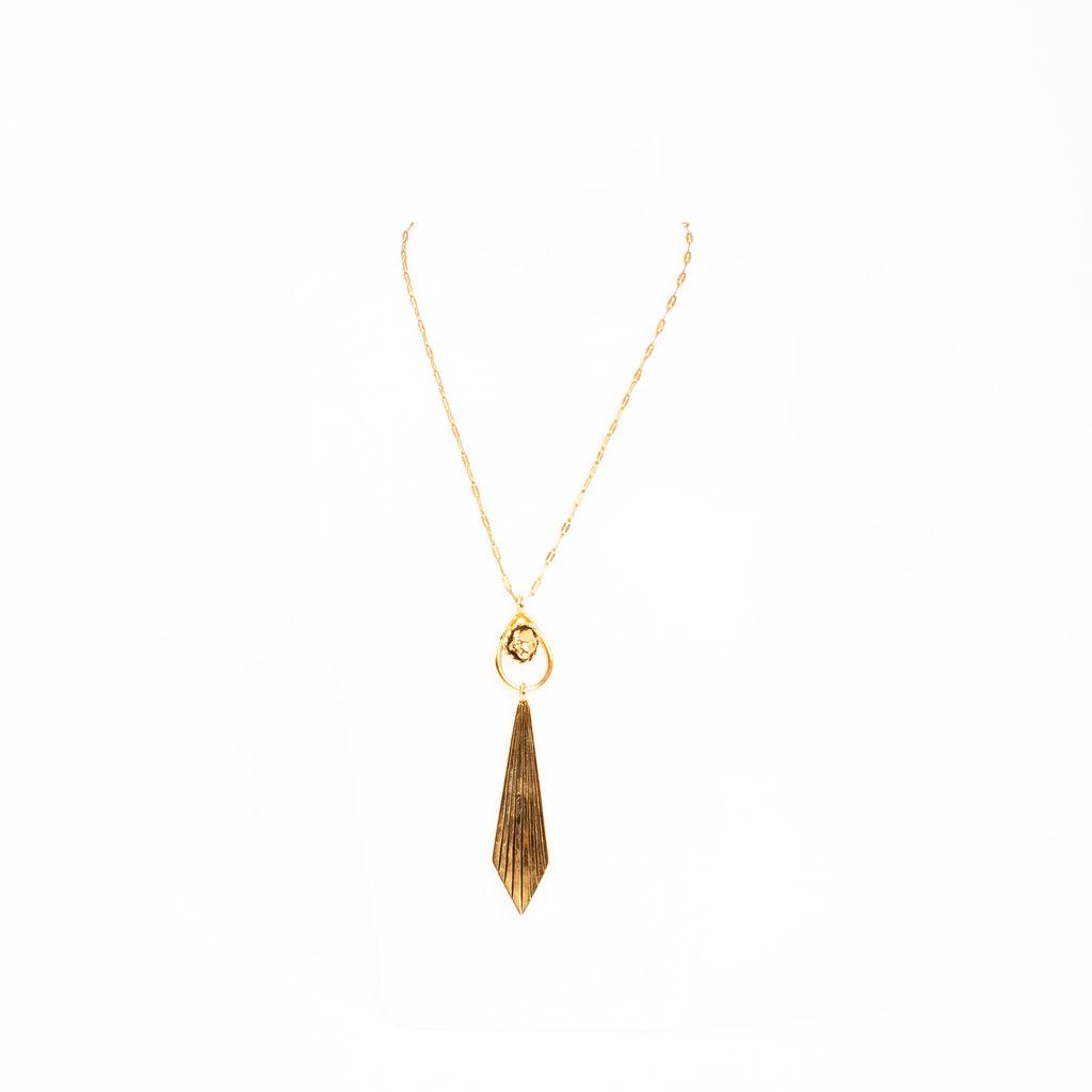 Vanessa Mooney Tear Drop Chain Necklace