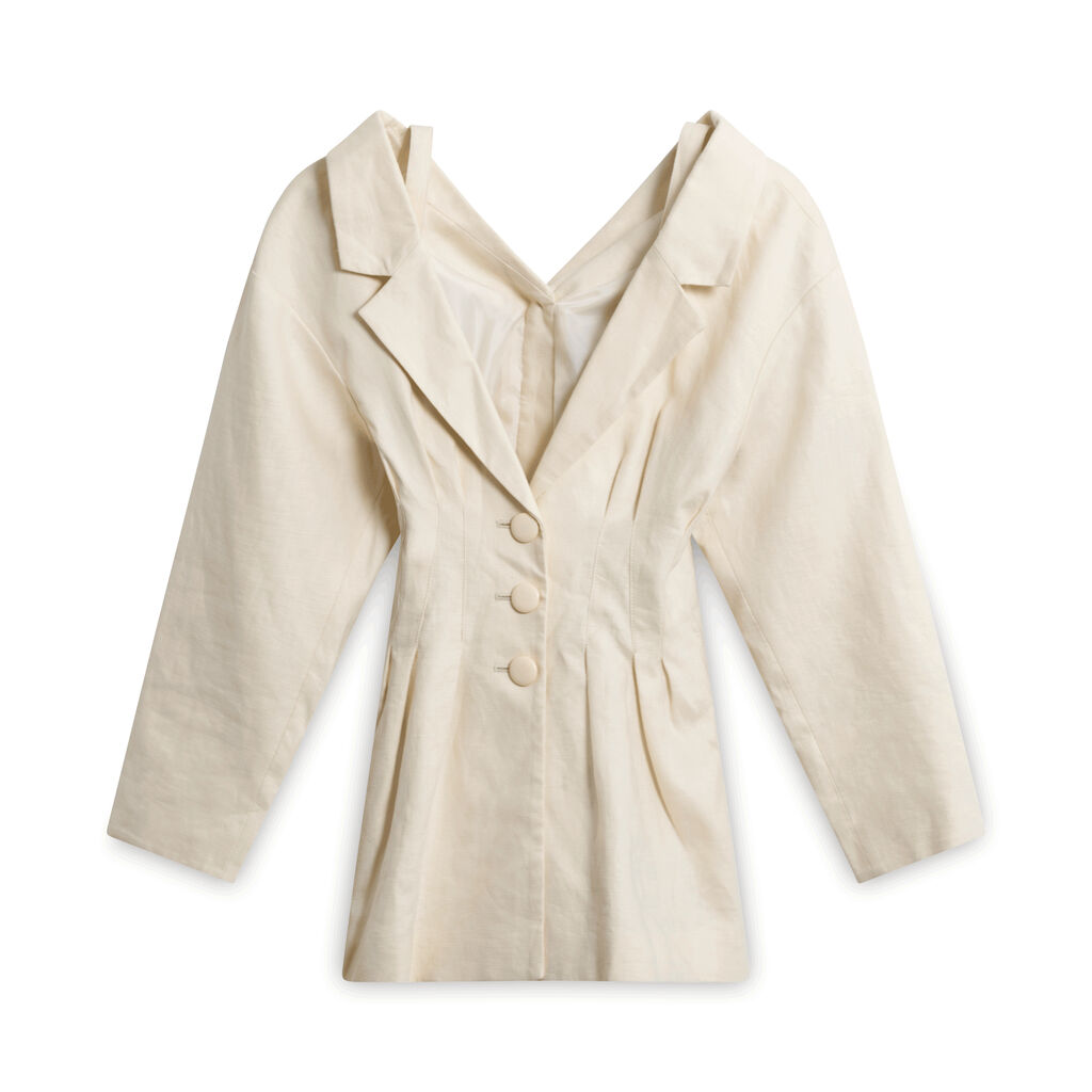 SLY Linen Fitted Coat
