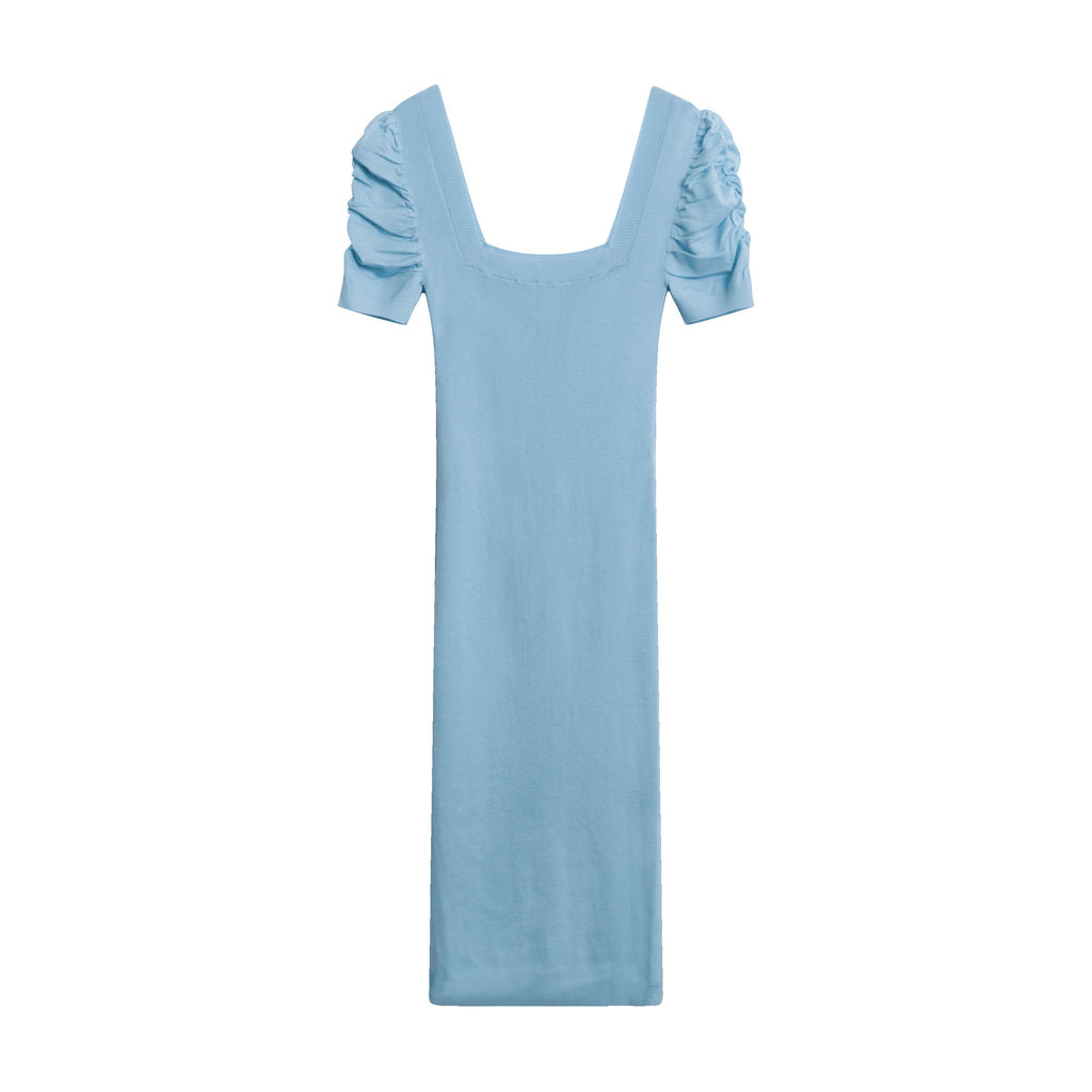 Public Habit Cindy Midi Dress in Sky Blue