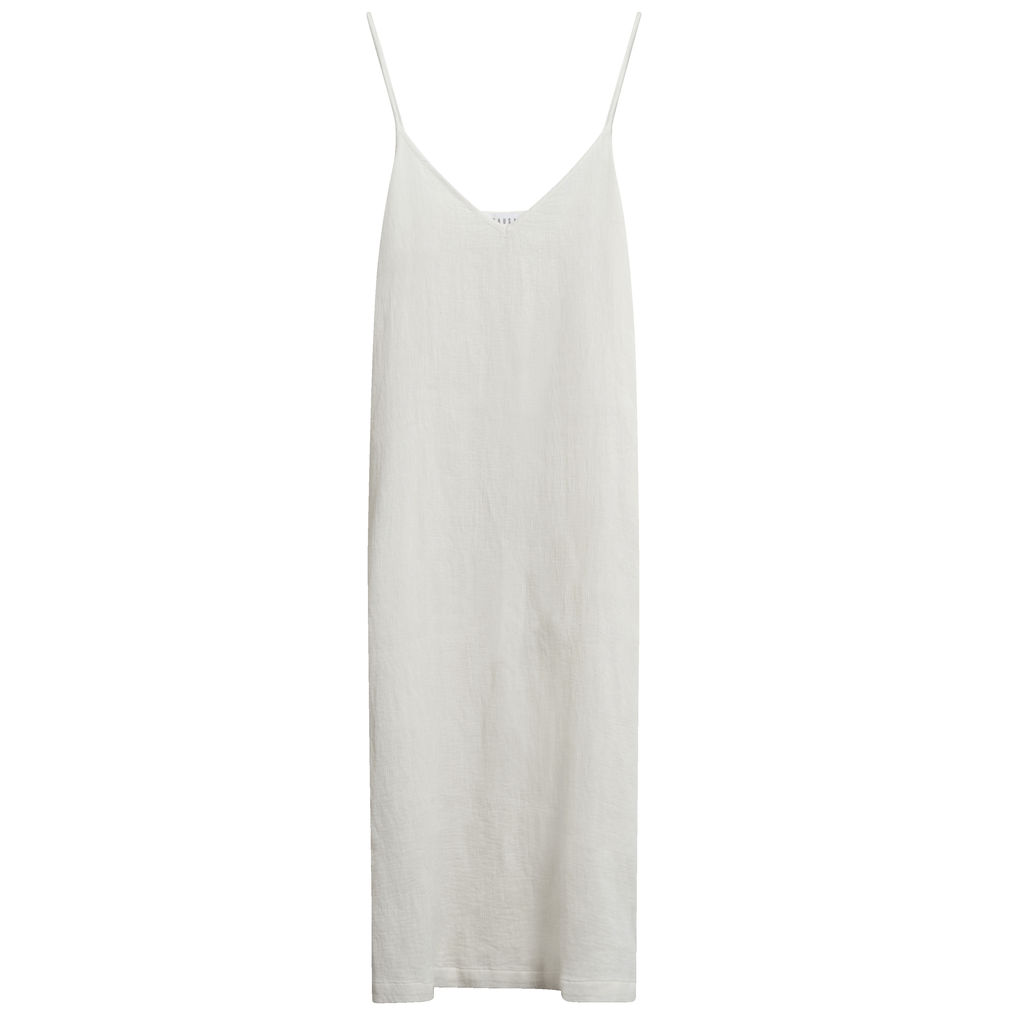 Lacausa Textured V-Neck Slip Dress in Ivory