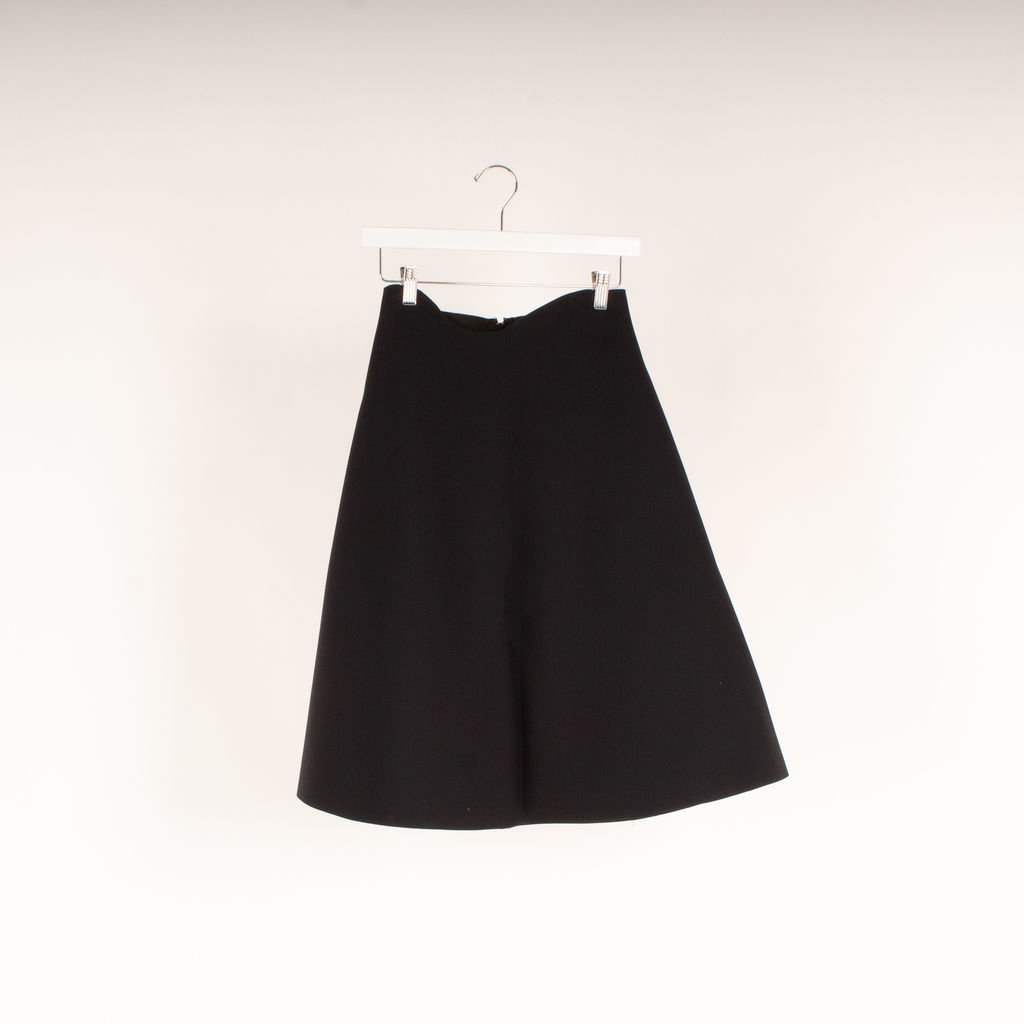 Acne Studios Black Grid Scuba Skirt