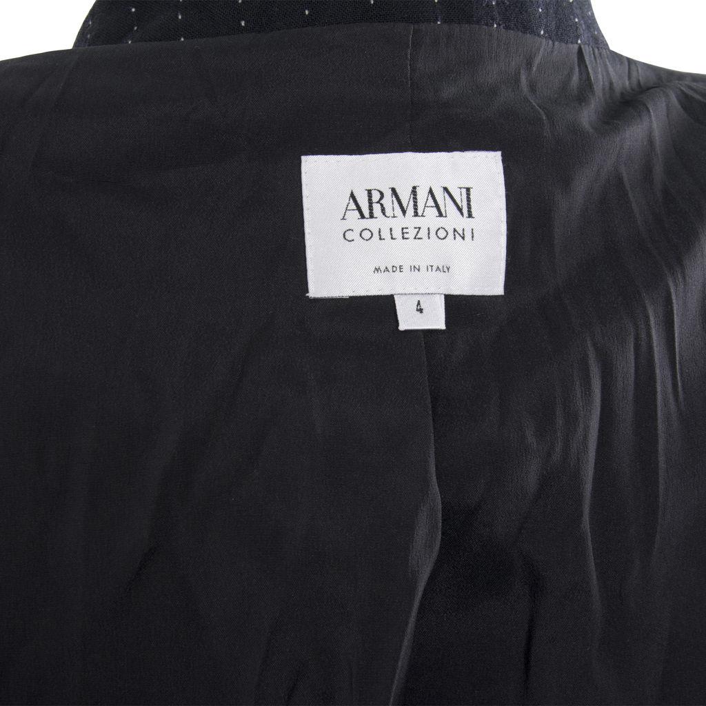 Midnight Navy Dotted Armani Blazer