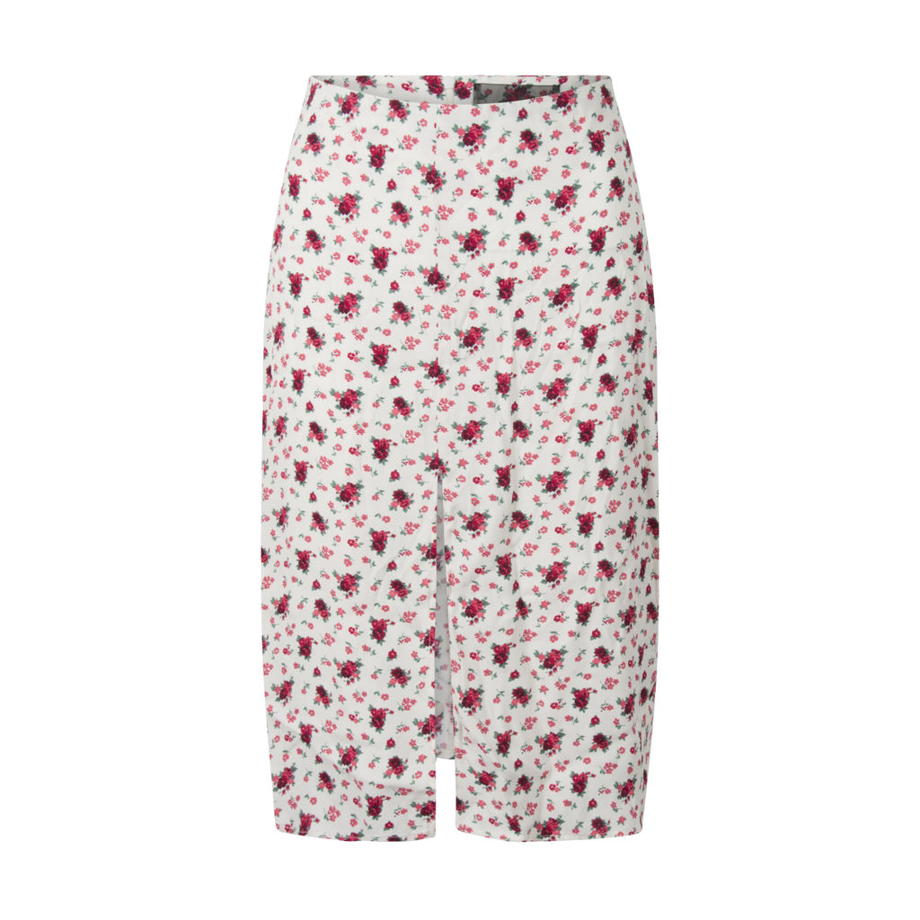 Reformation Floral Slit Skirt