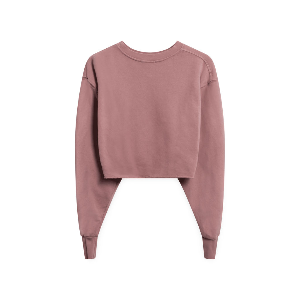 Good American Cropped and Cool Sweatshirt - Pink
