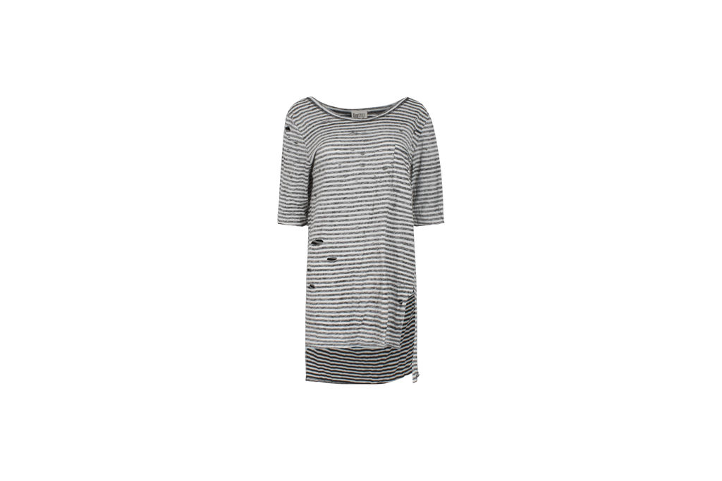Free People Destroyed Striped Tommy Tee