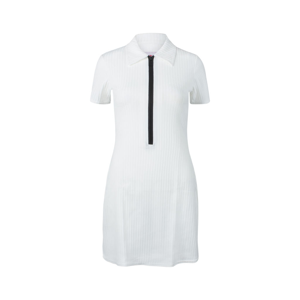 Solid & Striped Polo Zip Dress