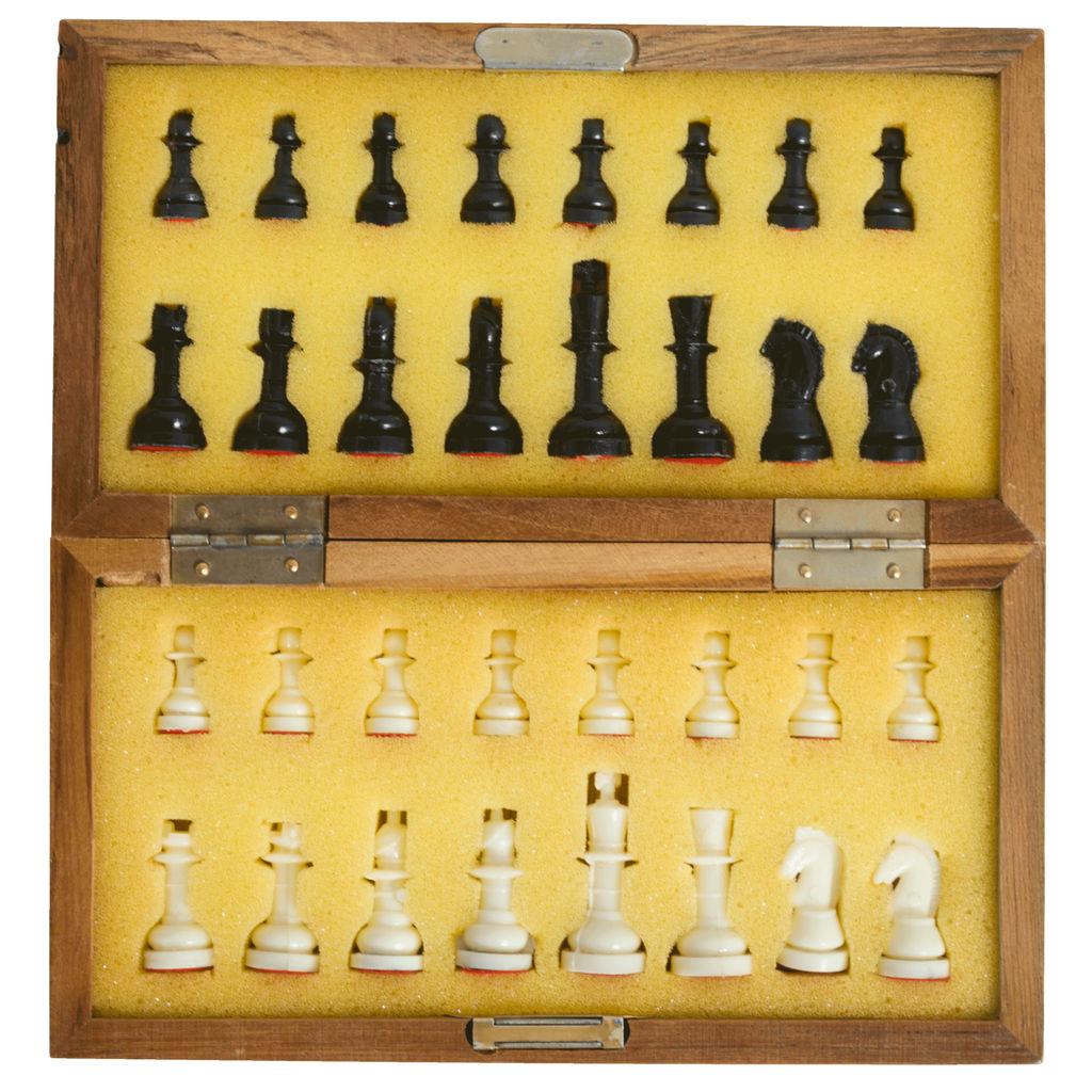 Vintage Travel Chess Set