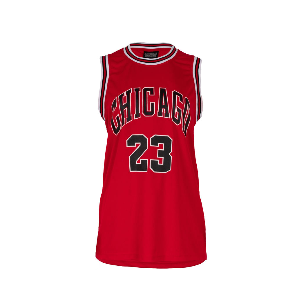Bootleg Chicago Bulls Jersey in Red