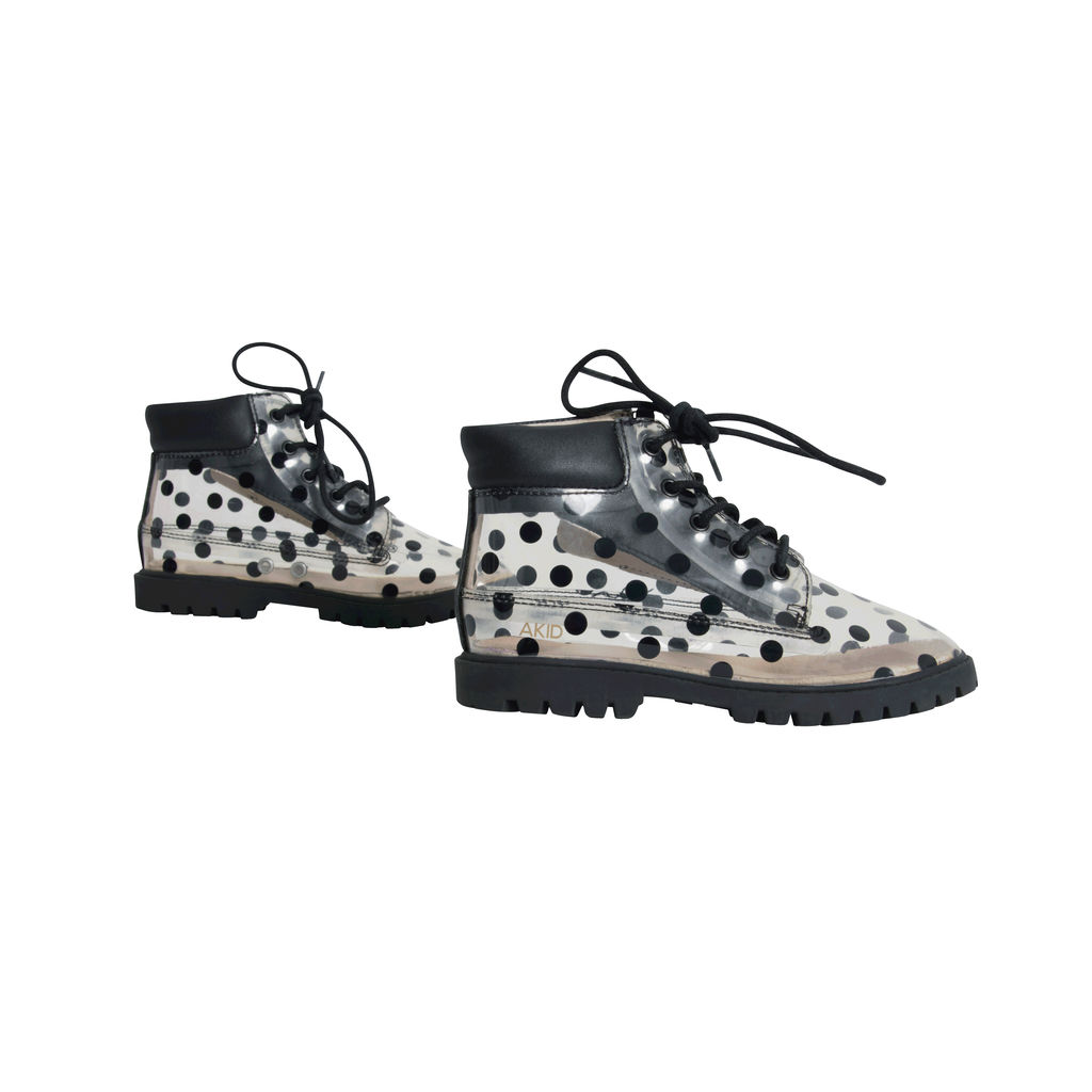 Akid Clear Polka-Dot Ankle Boots