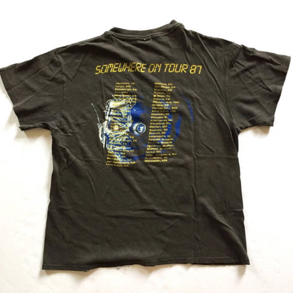 """Vintage 1987 Iron Maiden """"Somewhere On Tour"""" Concert Band Rock Tee Shirt  curated by Scott Hopkins"""
