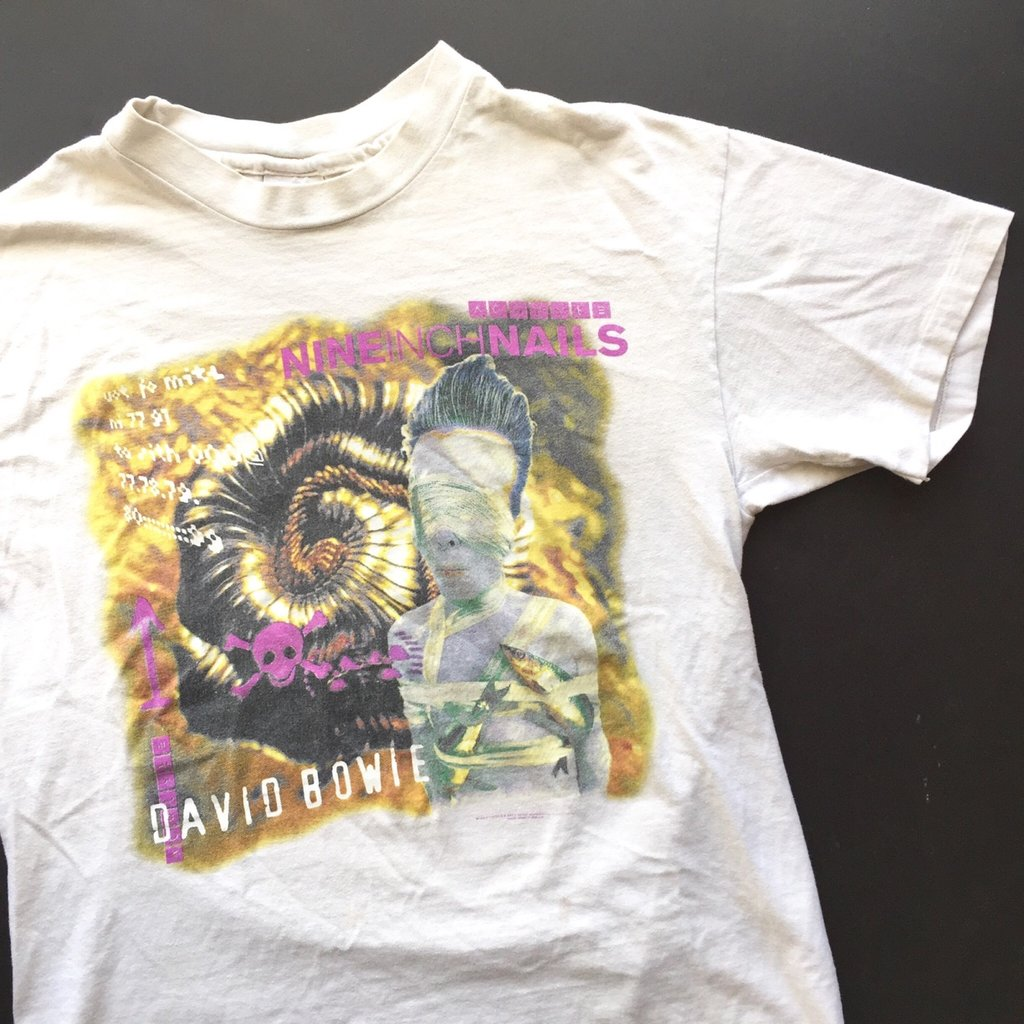 Vintage 1995 David Bowie & Nine Inch Nails (NIN) Tour Tee Shirt  curated by Scott Hopkins