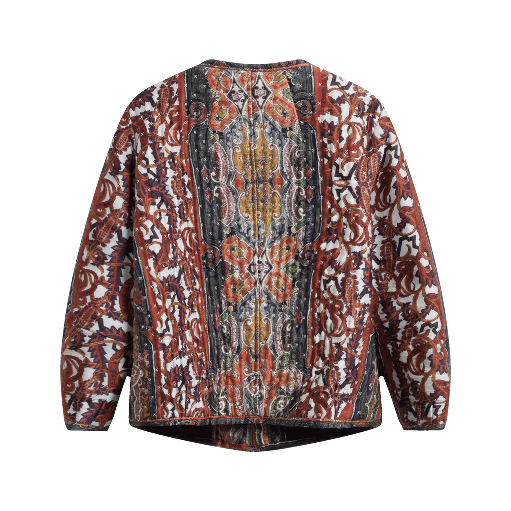 Isabel Marant Gamble Printed Silk-Satin Bomber Jacket