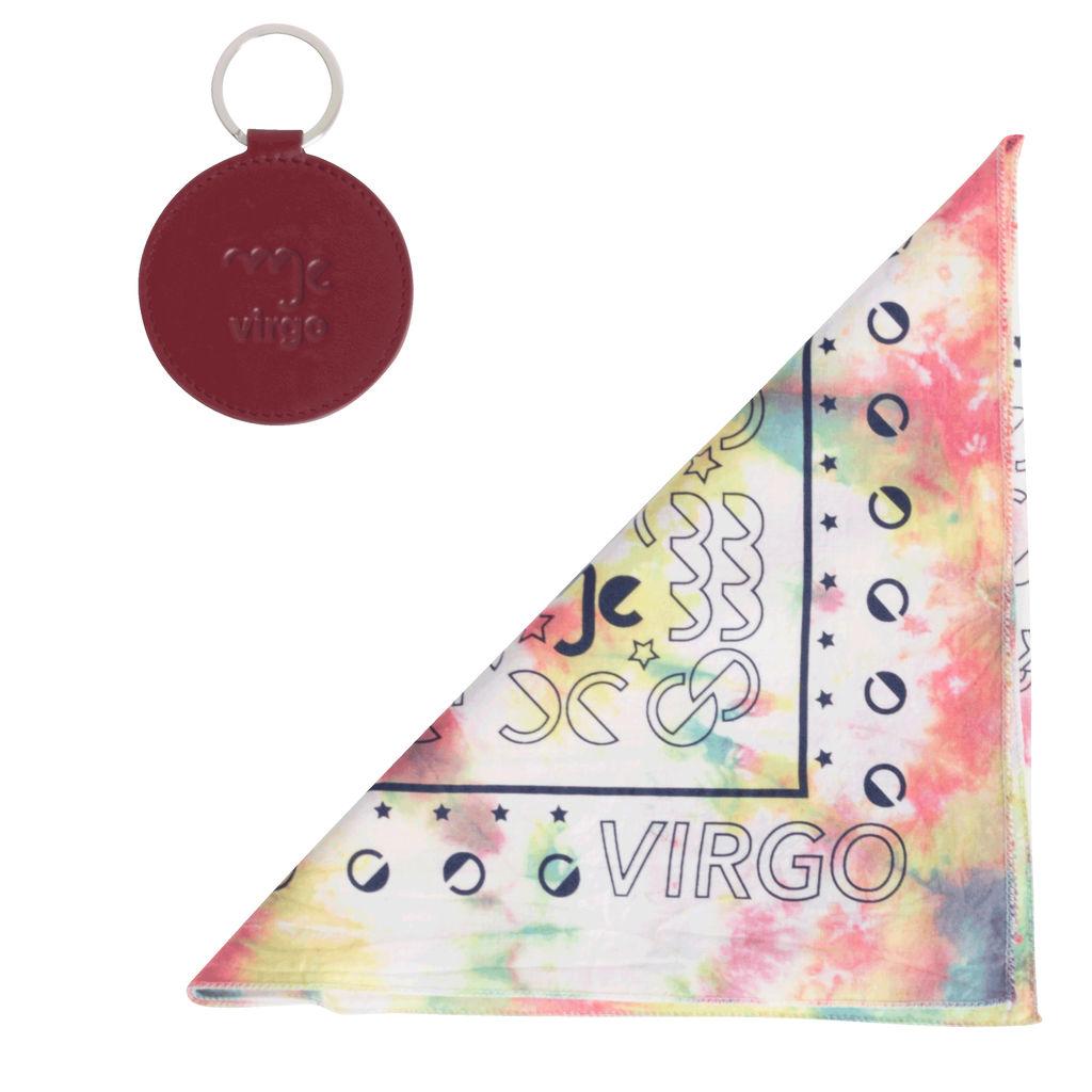 DOOZ Virgo Bandana + Keychain Set in Tie Dye