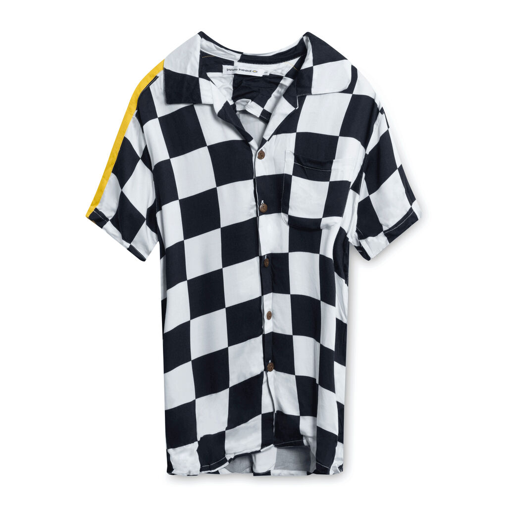 Potato Head Checkered Short Sleeve Shirt