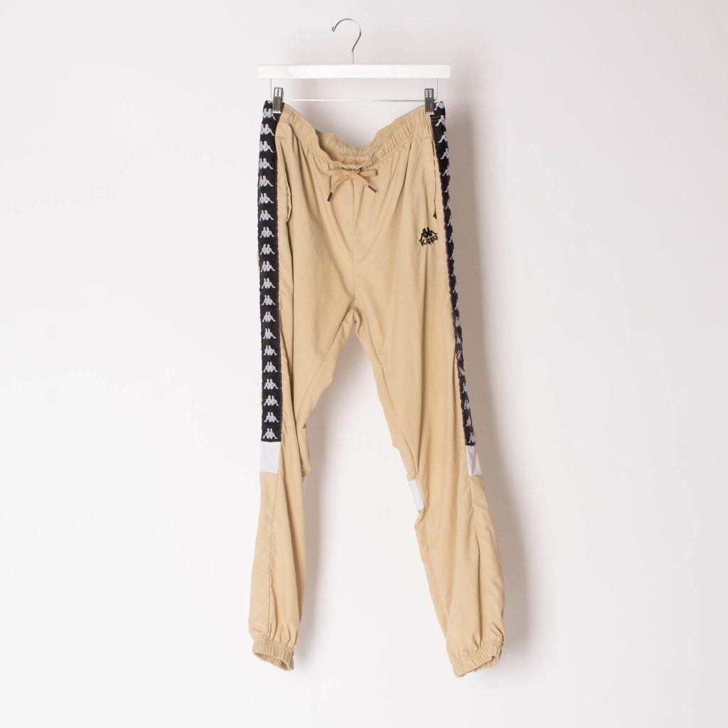 KAPPA Track Pants in beige with side-stripe detail
