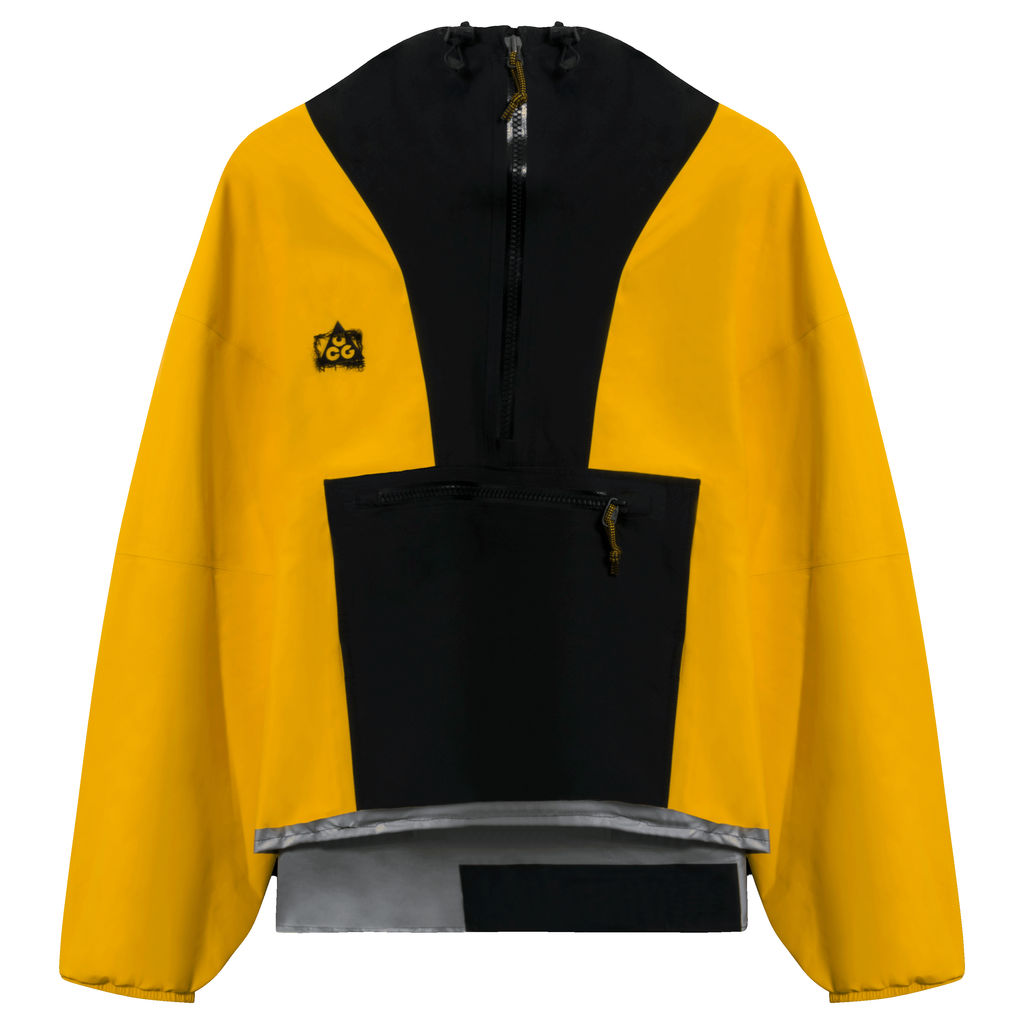 Reworked Nike ACG GORE-TEX Men's Paclite Jacket in Yellow/Black