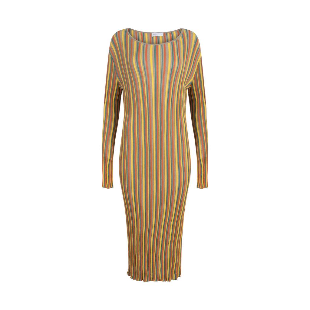 Valentina L Fontana Multicolor Striped Knit Dress