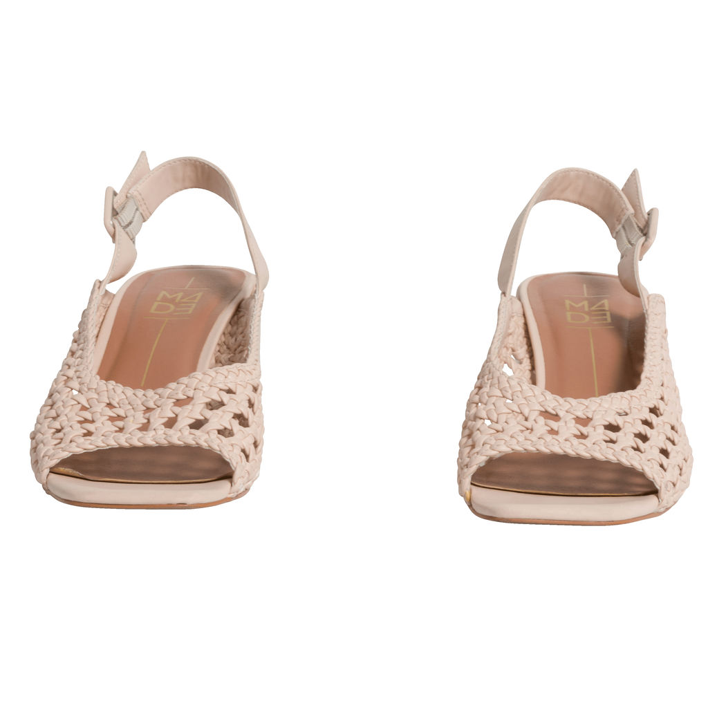 M4D3 Lane Woven Slingback Sandal in Blush
