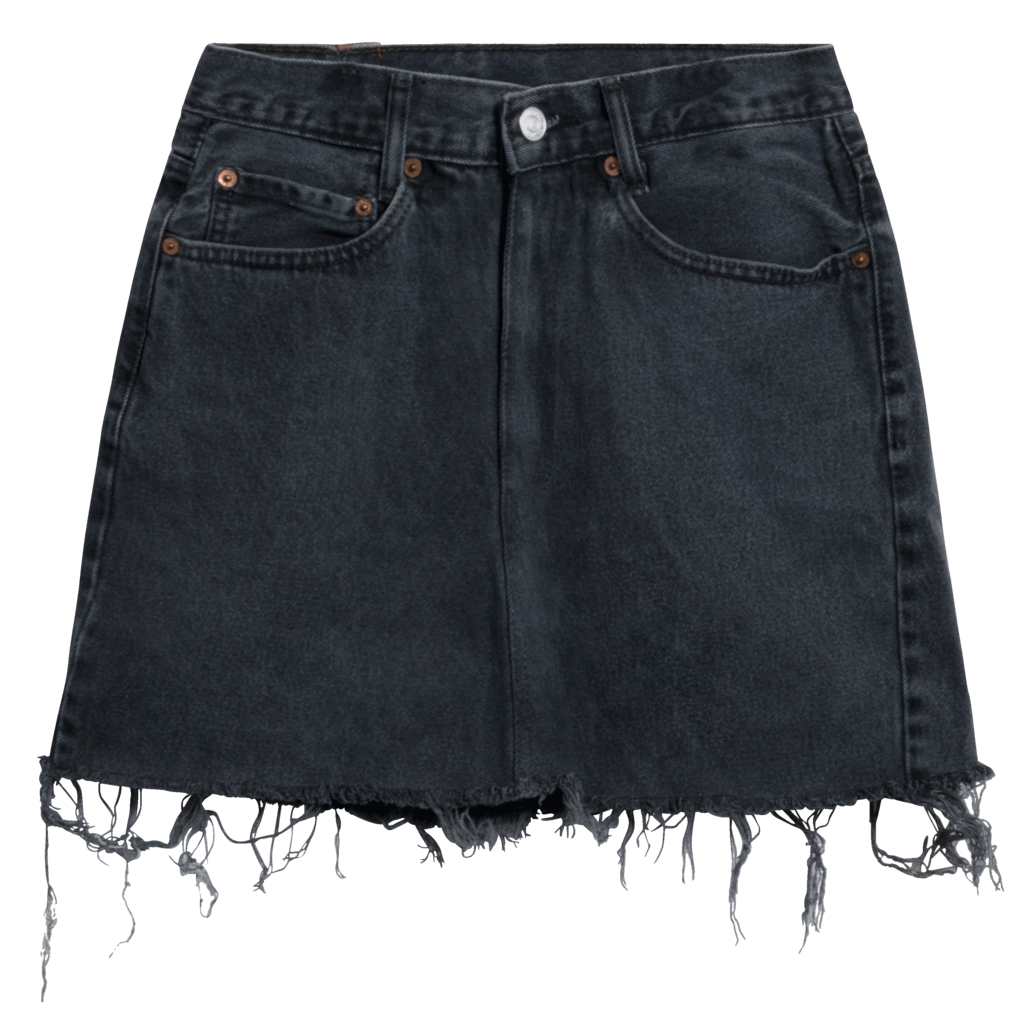 Levi's Vintage 550 Denim Skirt - Washed Black