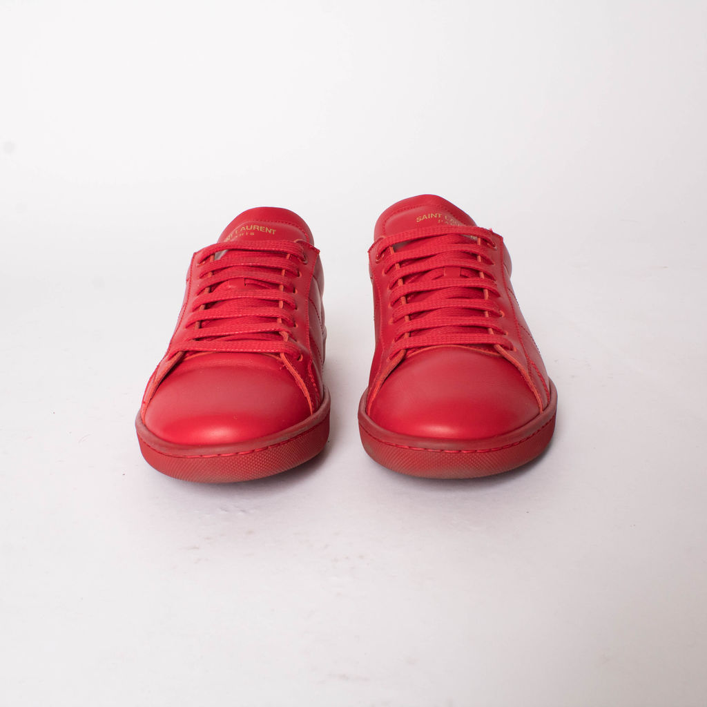 Saint Laurent SL /01 Court Classic Sneaker in Lipstick Red Leather