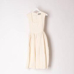 Preen by Thornton Bregazzi Sleeveless Cream Knee-Length Dress curated by Sophia Amoruso