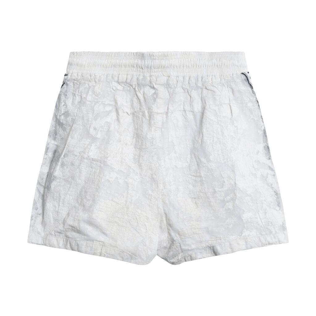 Nicce Textured Off-White Running Shorts
