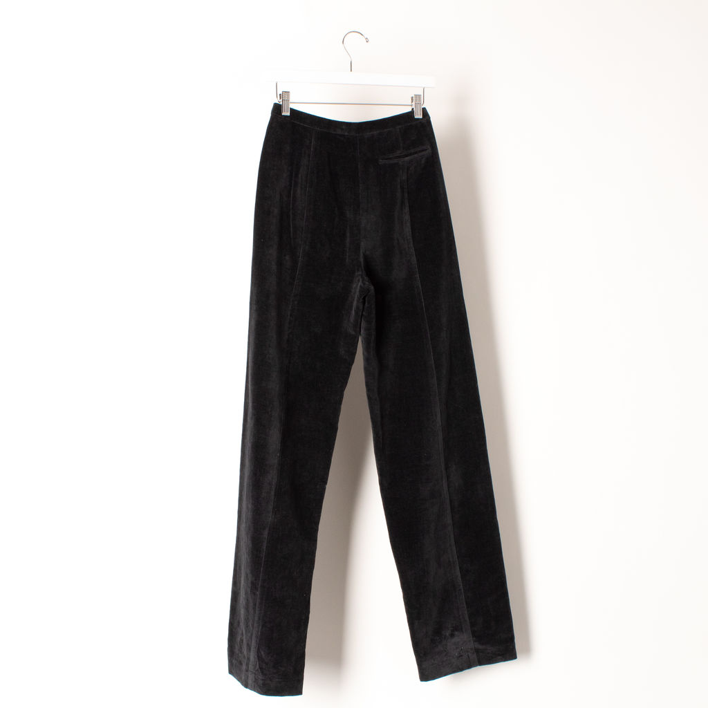 Lemaire Velvet High Wasted Pants