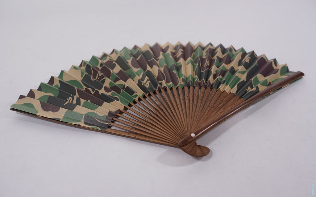 BAPE ABC Camo Folding Fan