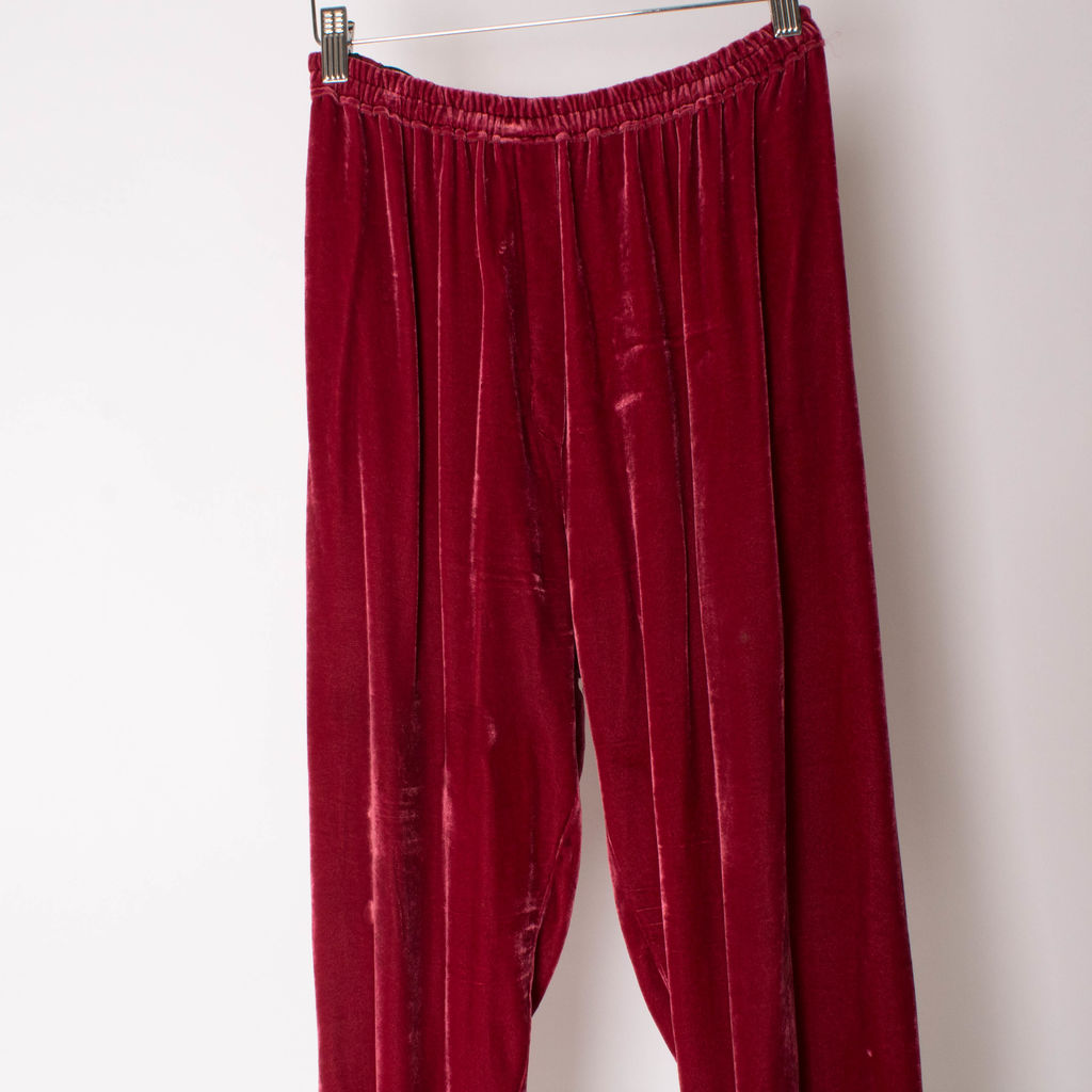 Forte Forte Red Velvet Pants