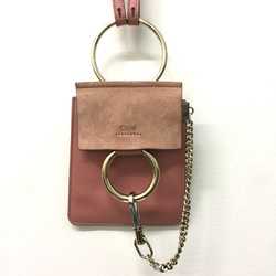 Chloe Faye Bracelet mini leather and suede shoulder bag curated by Aluna Francis