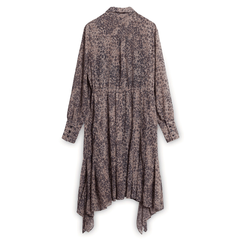 All Saints Lizzy Patch Dress- Leopard