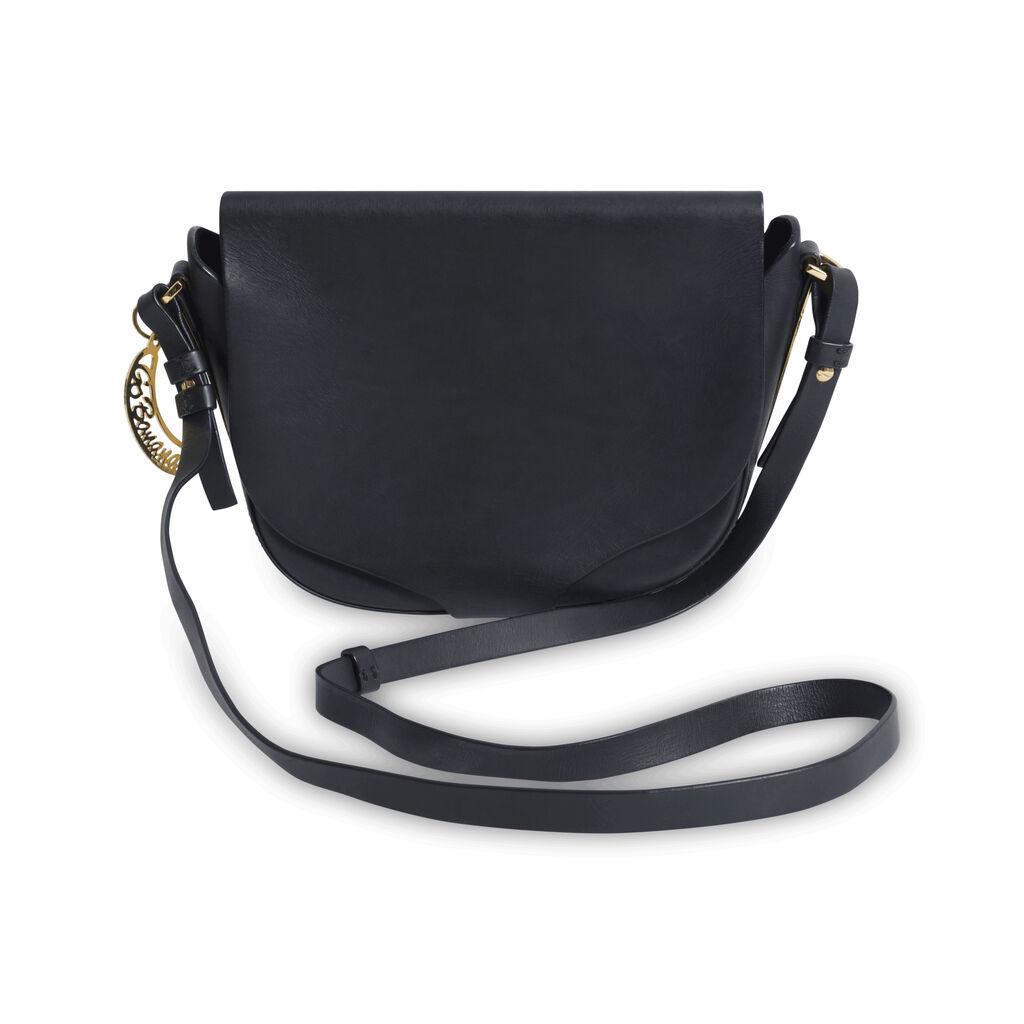 Sophie Hulme Black Leather Crossbody Bag