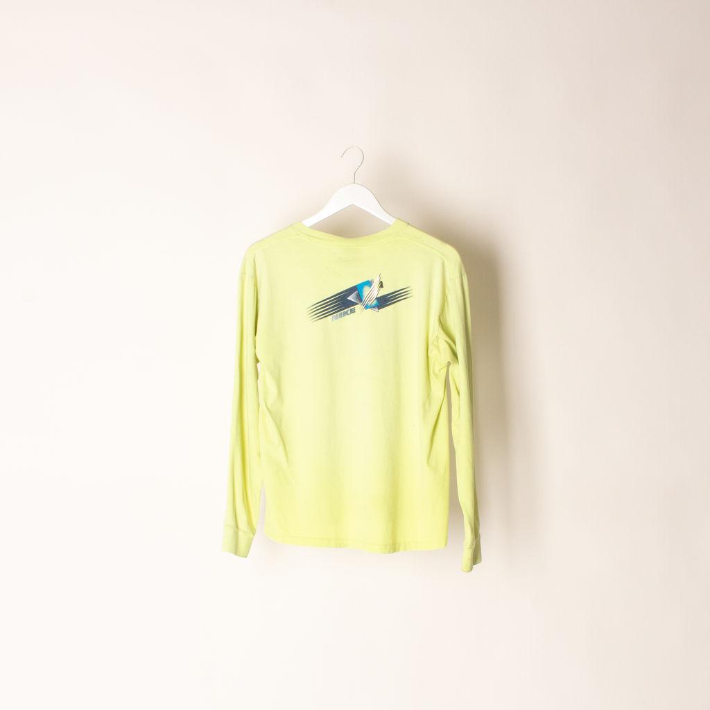 Lime Green Long Sleeve Cotton Nike Tee
