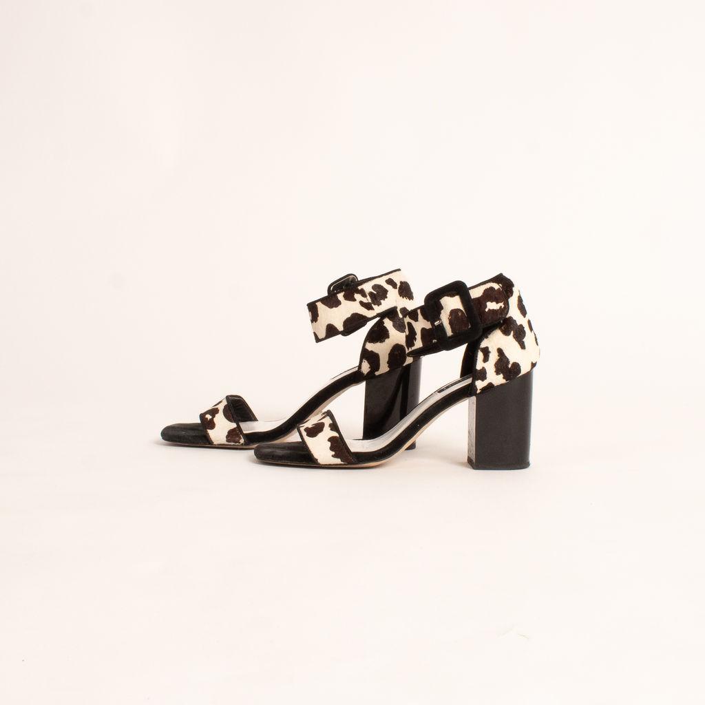 Senso Rafael III Chalk Pony Leopard Heels