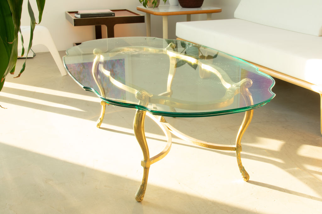 Vintage Glass Coffee Table
