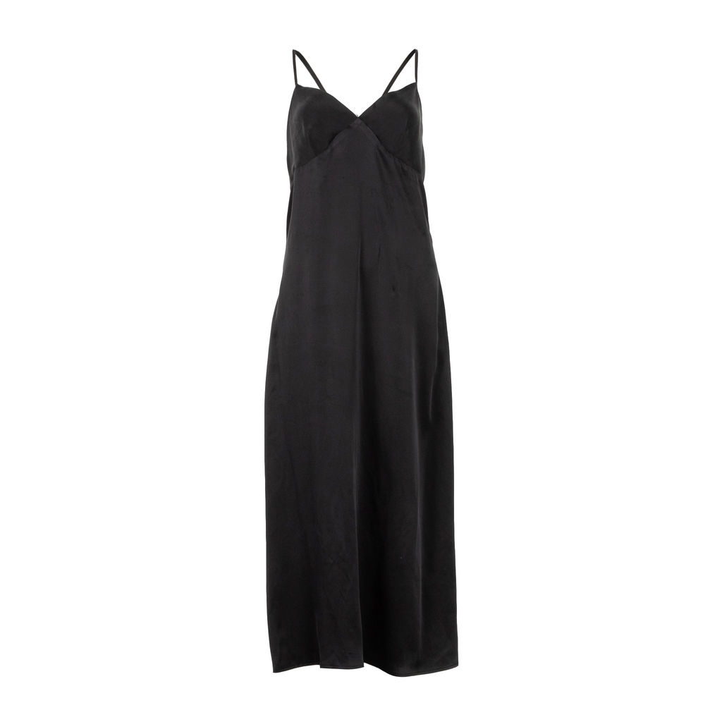 Again Gia Silk Slip Dress