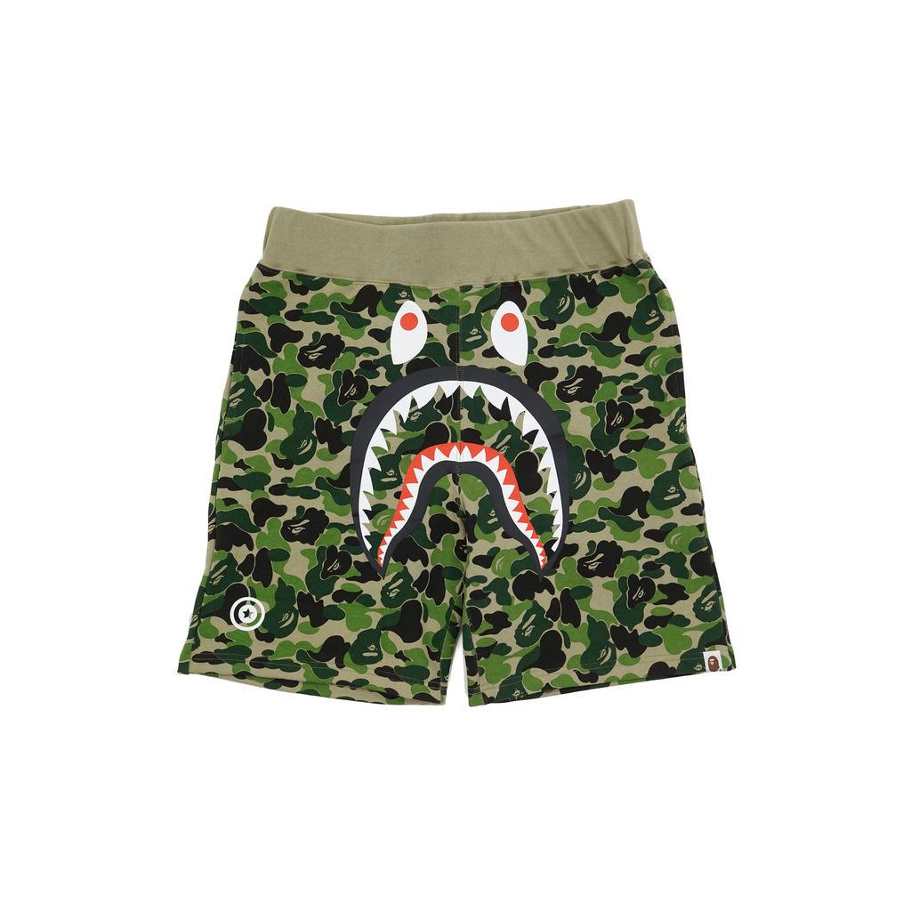 BAPE ABC Camo WGM Print Shark Sweatshorts