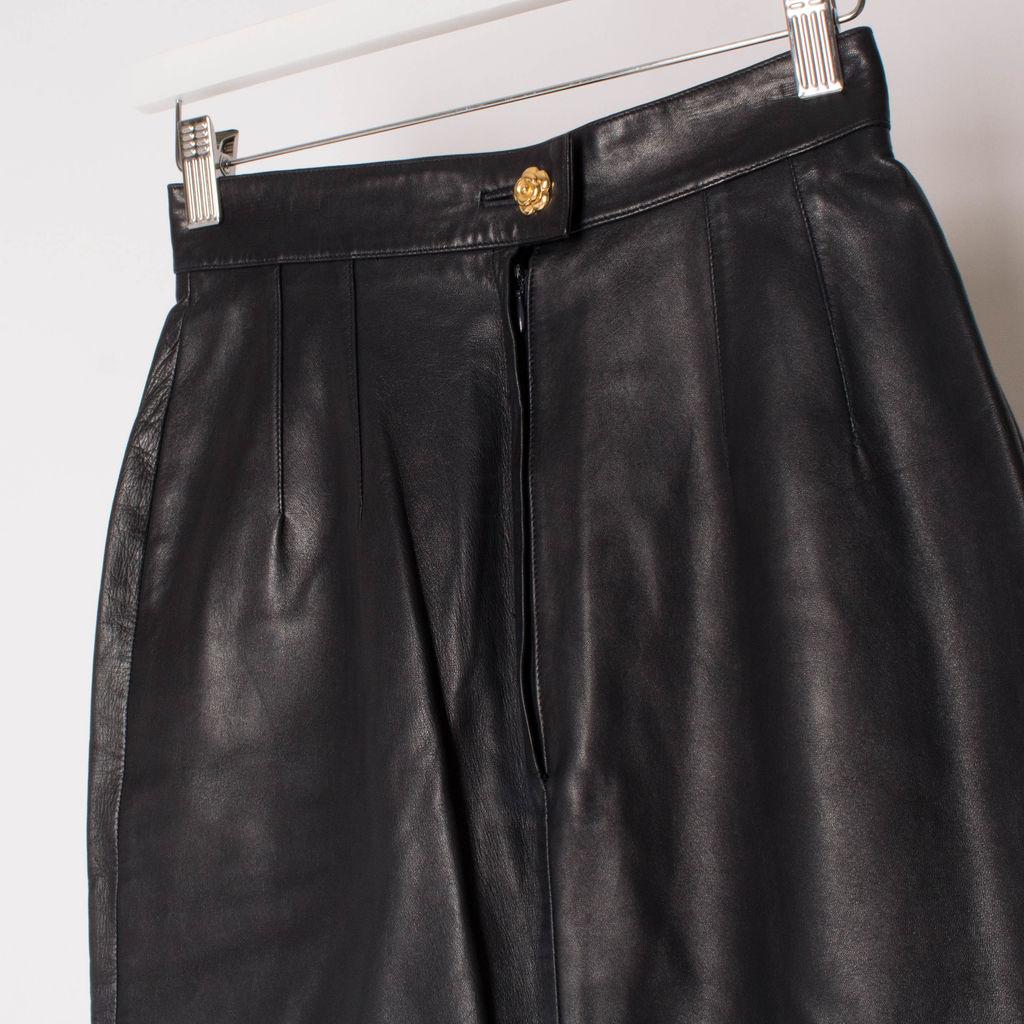 Vintage Chanel Boutique Leather Skirt