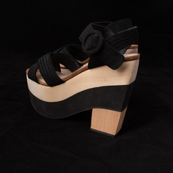 Shellys London Wooden Platforms  curated by Erica Hass