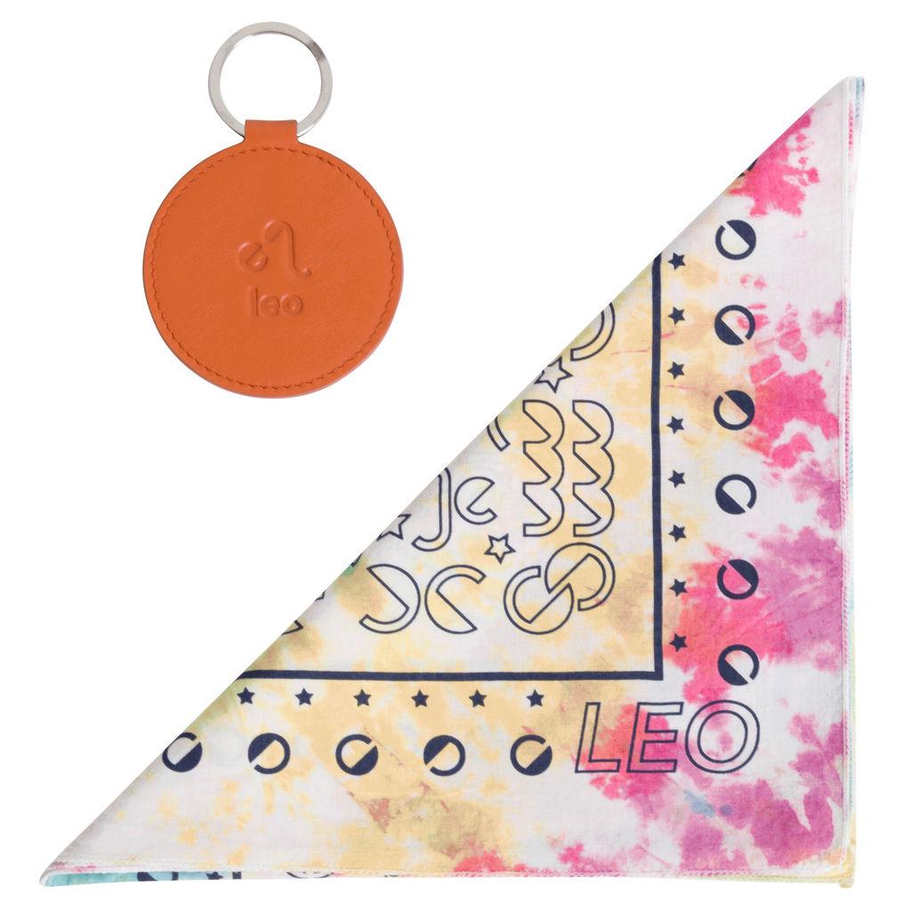 DOOZ Leo Bandana + Keychain Set in Tie Dye