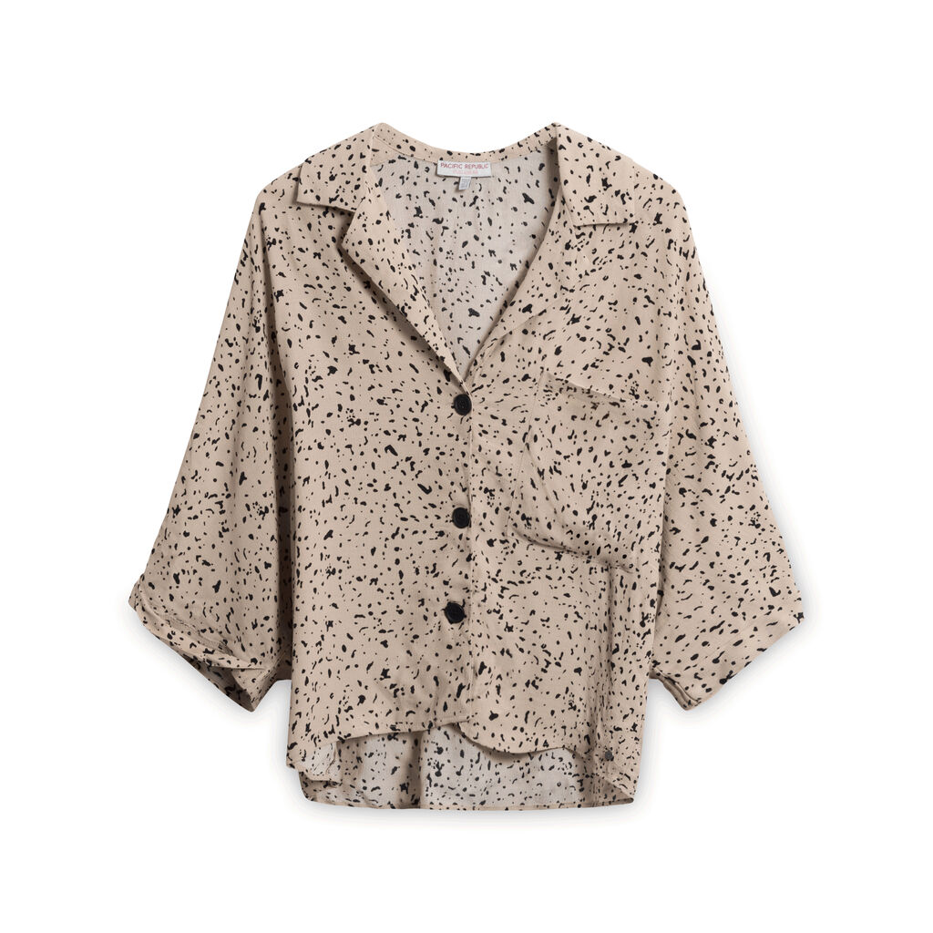 Pacific Republic Speckled Button-Down Shirt