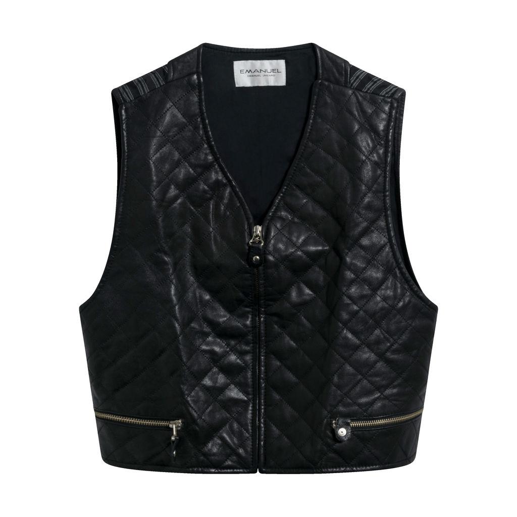 Vintage Emanuel Ungaro Leather Vest