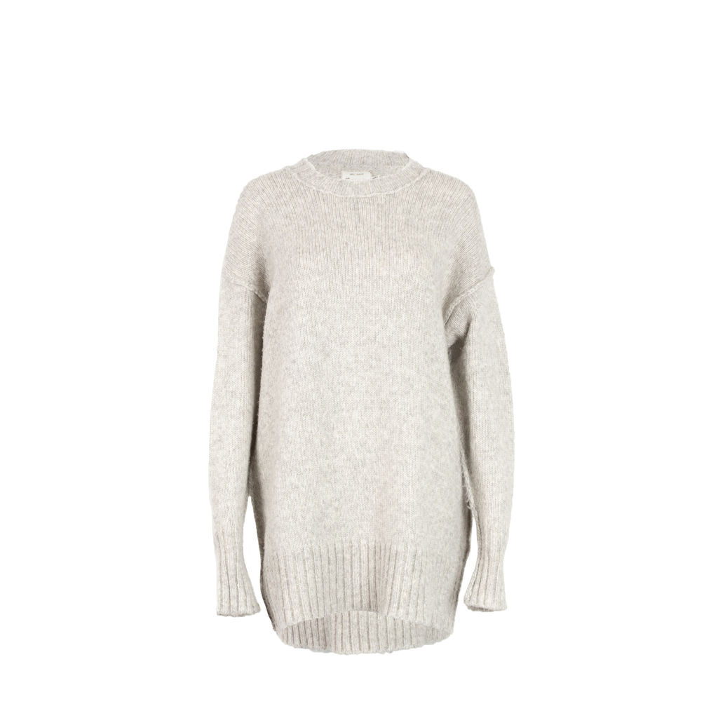 R13 Oversized Mohair Crewneck Sweater