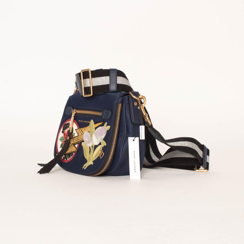 Marc Jacobs Embroidered Nylon Nomad Saddle Bag